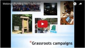 Webinar - funding the frontlines