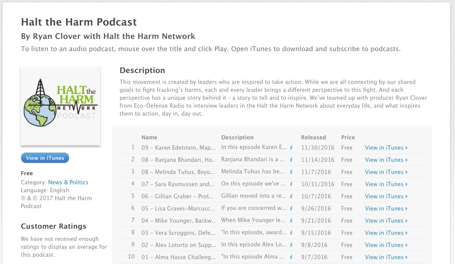 Podcast Preview iTunes
