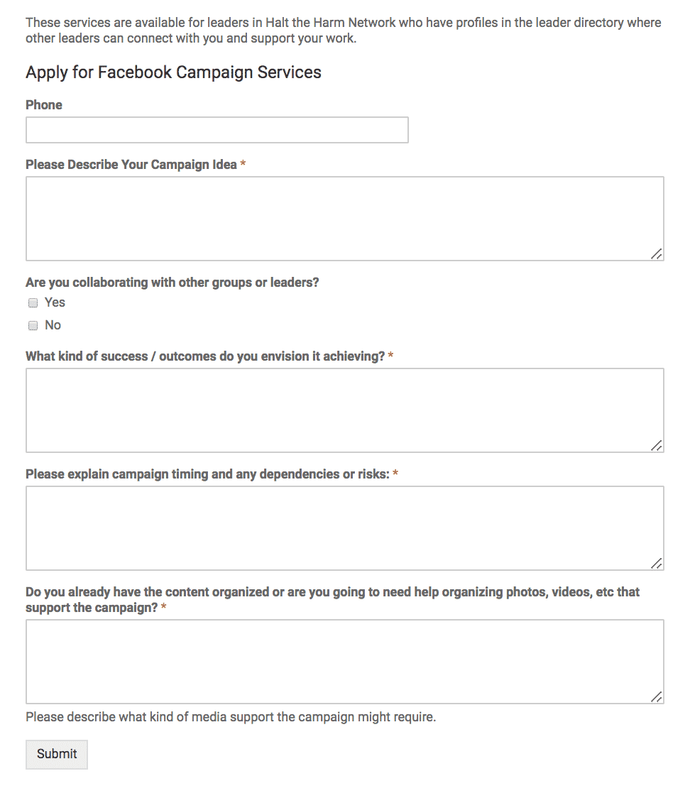 FB ad applications
